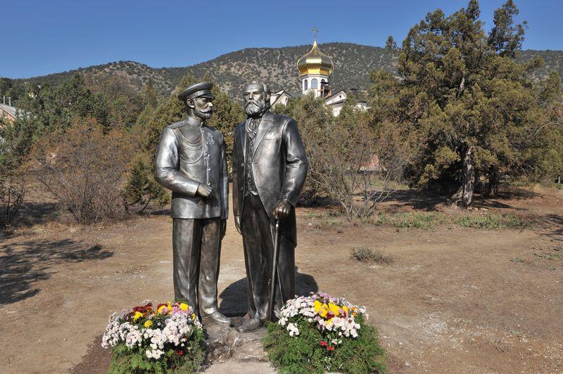 Памятник Л.С.Голицыну в Новом Свете