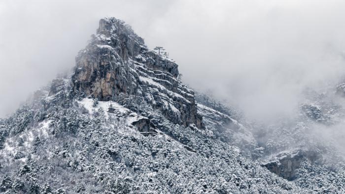 Скала Ставри-кая. Зима